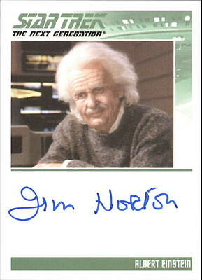 STAR TREK - TNG - COMPLETE SERIES 2 - JIM NORTON as ALBERT EINSTEIN - NNO - AUTO