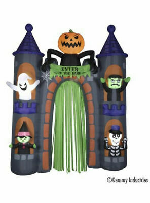 Halloween Haunted Castle Archway Airblown Inflatable 9 Ft Tall Lights Up Gemmy
