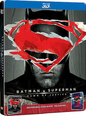Batman V Superman  Dawn Of Justice  Steelbook  Blu Ray 3D   Blu Ray  2 Disc  New