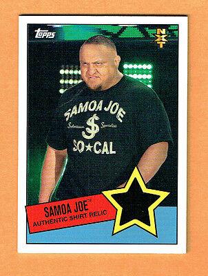 SAMOA JOE 2015 Topps WWE UNDISPUTED NXT PROSPECTS SHIRT RELIC NrMt Comb S&H image