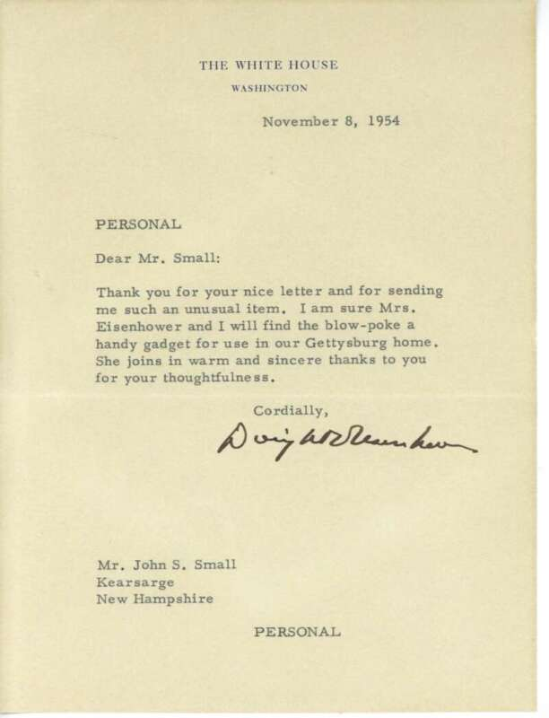 Dwight D. Eisenhower Signed Autographed 1954 White House Letter Beckett BAS