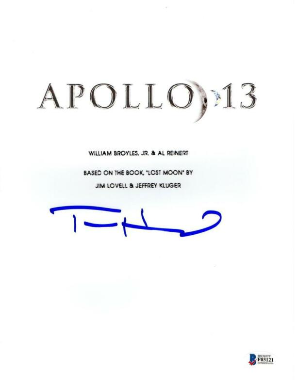 TOM HANKS SIGNED APOLLO 13 FULL SCRIPT AUTHENTIC AUTOGRAPH BECKETT COA