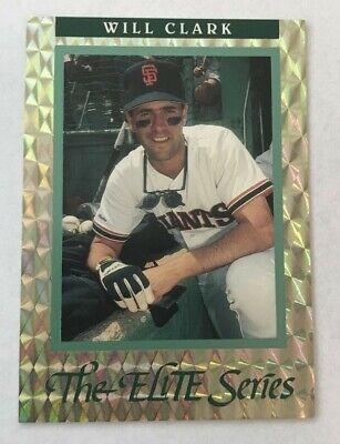 1992 Donruss Elite Series Will Clark 02277/10000 Leaf Baseball