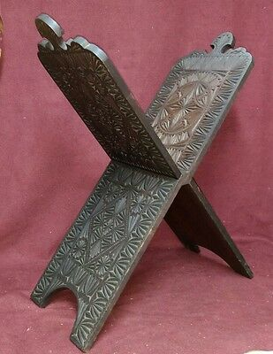 Old or Antique Koran Book Stand Carved Wood Islamic
