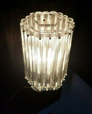 VTG MCM Lucite Ribbon Hollywood Regency Acrylic Lamp Post Light Fixture Retro  for sale  Mesa