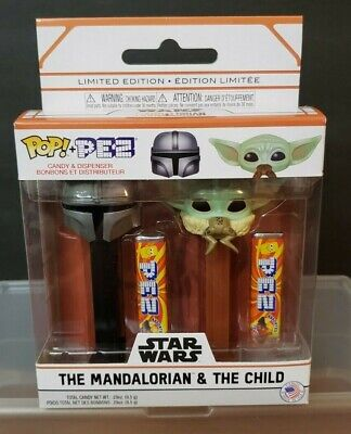 Funko Pop PEZ Star Wars The Mandalorian & The Child Limited Edition 2 Pack