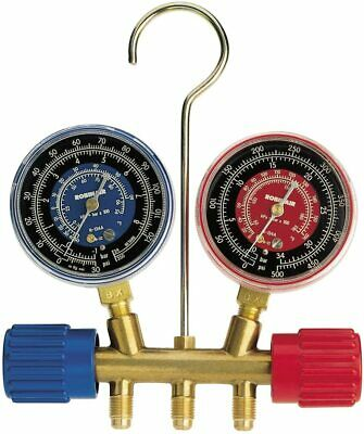 Robinair 40152 Side-wheel Manifold Gauge With 14 Fittings