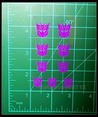 New Decepticons Symbol purple hollow mini stickers for toy transformers instock