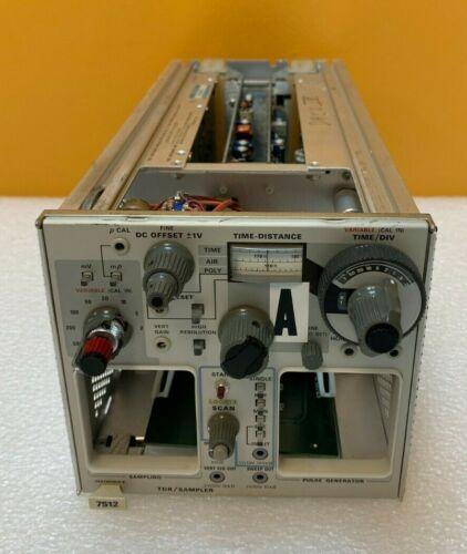Tektronix 7S12   2 Slot, Vertical + Horizontal, TDR / Sampler Plug-In. Tested!
