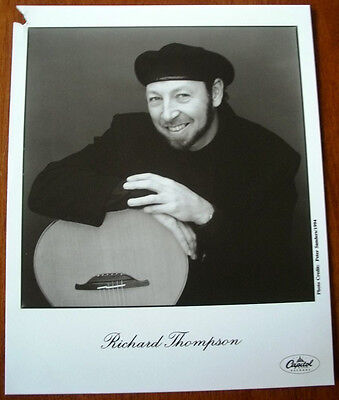 Richard Thompson 8x10 B&W Press Photo Capitol Records 1994
