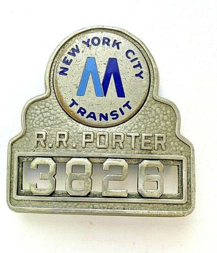Vintage New York City Transit R.R Porter 3826