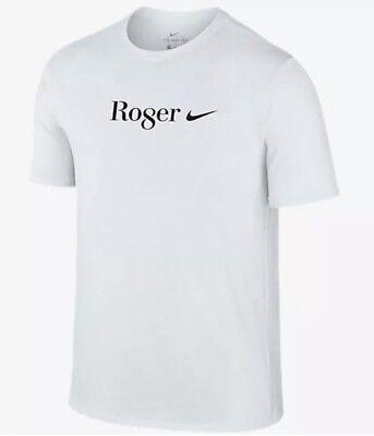 Nike Nikecourt Rf Roger Federer Ro8er Wimbledon Celebration Shirt White Sz M
