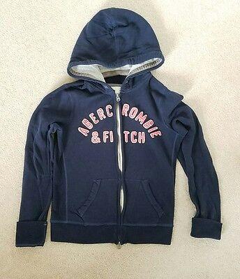 Juniors Abercrombie & Fitch Blue Zipper Front Sweatshirt Hoodie Size M Juniors Zipper Hoodie
