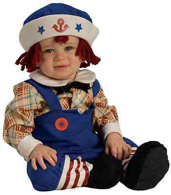 Ragamuffin Sailor Rag Doll Raggedy Andy Dress Up Halloween Toddler Child Costume