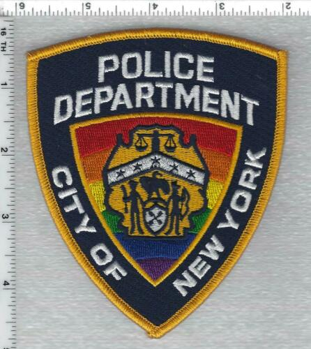 PRIDE New York City Police Shoulder Patch (new for 2021 - may be worn in June)