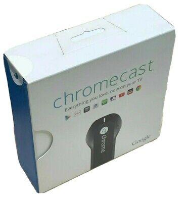 *New In Box* Google Chromecast Model H2G2-42 1st Gen Black Media Streamer
