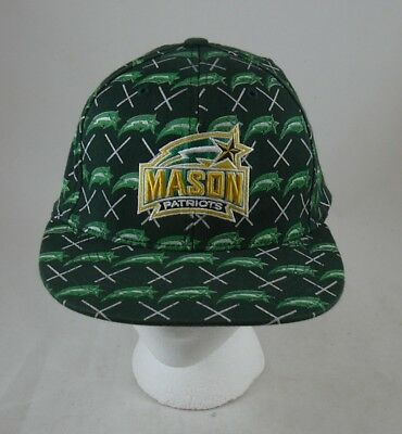 George Yellow Hat (George Mason Patriots Green Yellow Hat Tek Flex Baseball style Cap One)