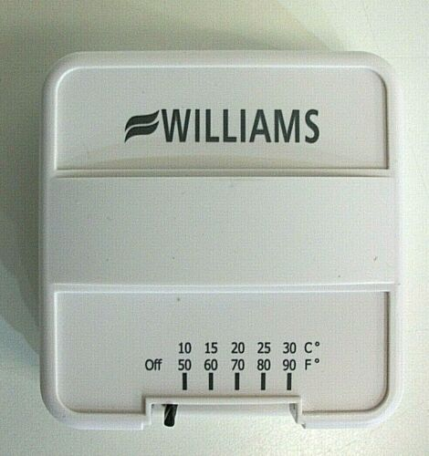 New WILLIAMS Low Voltage Thermostat (Heating Only) P322016