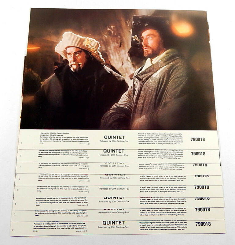 Quintet Movie Lobby Card Set of 8 11x14 Vintage Robert Altman Paul Newman