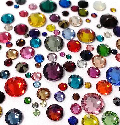 144 pcs Mixed Sizes SWAROVSKI Crystal Flatbacks Rhinestones nail art U PICK