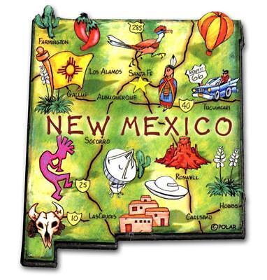 New Mexico the Land of Enchantment State Artwood Jumbo Fridge Magnet