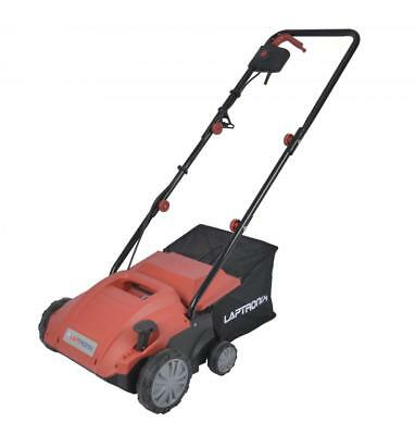 Laptronix 1500W 2 in 1 Electric Scarifier Lawn Rake Aerator 32cm Width 4 Heights