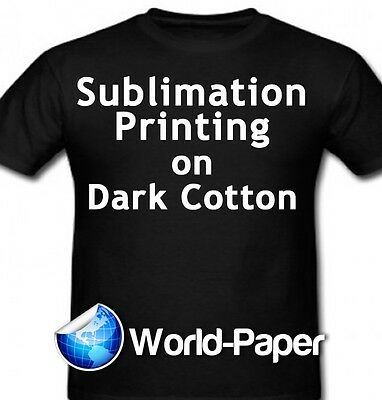 Sublimation Printing For Dark Cotton Fabric - 8.5 X 11 - 5 Sheets