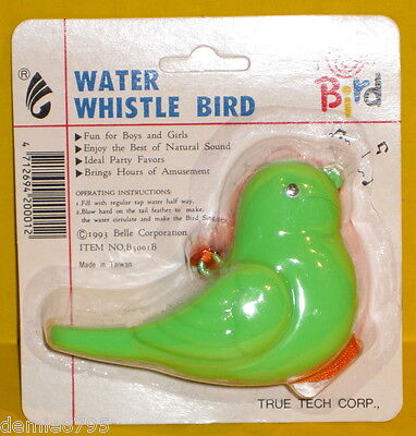 Water Whistle Bird Educational / Party Favors Toy - Color: Green  NEW