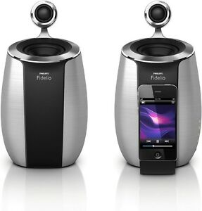Philips Fidelio DS6600 Soundsphere Loud Speaker Dock Docking System iPod iPhone