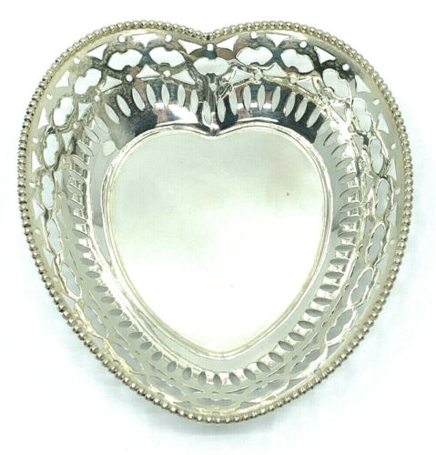 Vintage Lebkuecher & Co. Sterling Silver Heart Candy Dish