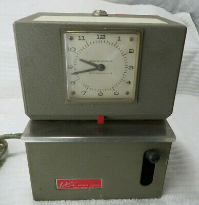 Vintage Lathem Time Clock Time Recorder No Key Needs New Cord For Partsrepair