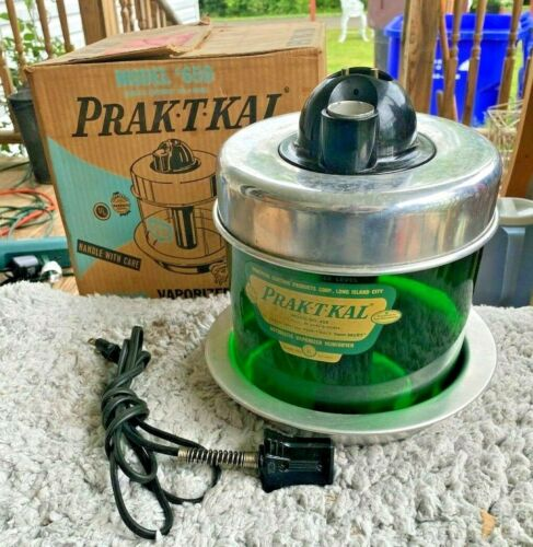 Vtg PRAK-T-KAL Vaporizer Humidifier Model 650 PRACTICAL ELECTRIC PRODUCTS Works!