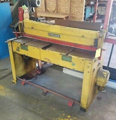 Niagara 48 Mechanical Power Squaring Shear 14 Gauge Mild Steel 1.5 Hp 2204403