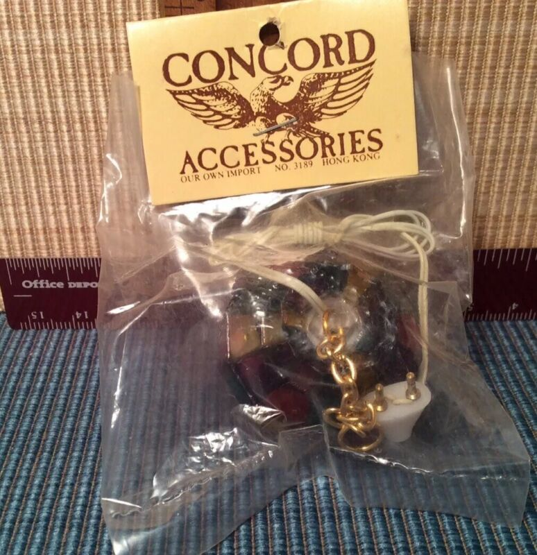 dollhouse miniatures 1:12 Concord Colorful Hanging Lamp