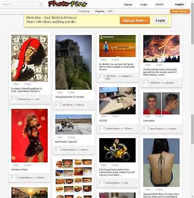 Photo Pins Website Pinterest Clone Free Hosting