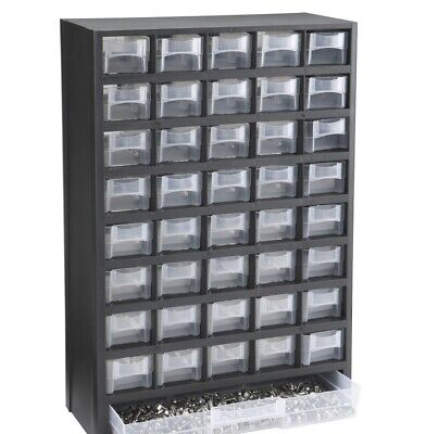 40 Bin Organizer w/Full Length Drawer Parts Fasteners Nuts/Bolts Other Hardware