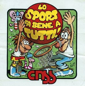 ADESIVO-STICKER-1986-LO-SPORT-FA-BENE-A-TUTTI-cm-8-9-x-8-9