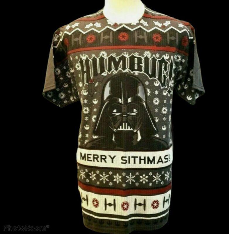 "Disney Star Wars Darth Vader ""Humbug Merry Sithmas"" t-shirt  2017 Size L"