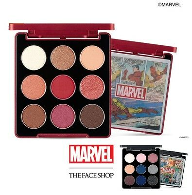 The Face Shop X Marvel  Mono Pop Eye Shadow Daily   Point 9 Colors Palette 6 8G
