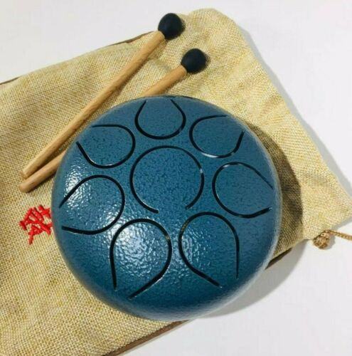 Steel Tongue Drum 5.5 Inch 8 Note Mini Drum Textured Color Great Gift for Kids