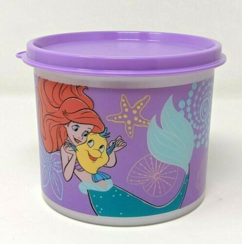 TUPPERWARE Disney Ariel Round Canister 2 cup  New