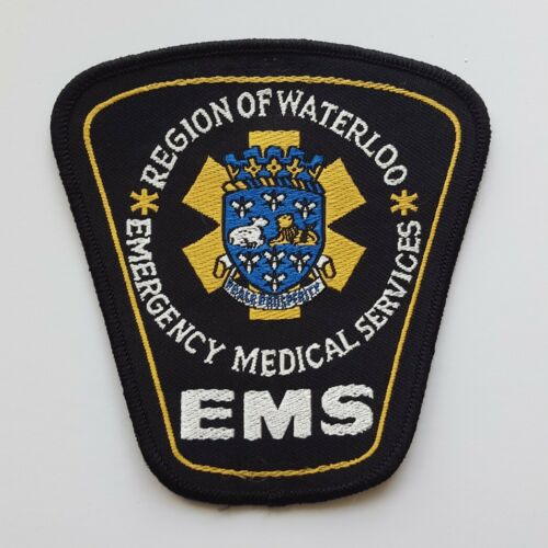 Waterloo Region Ontario Canada EMS Paramedic Ambulance patch #2, new condition