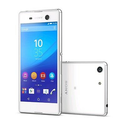 "New Sony Xperia M5 Dual Sim E5663 White Factory Unlocked Android 5"" 4G LTE 16GB"
