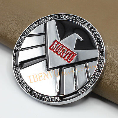 Chrome Roundel Metal Marvel Logistics Shield Car Accessory Badge Emblem Sticker