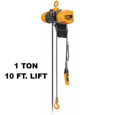 Harrington Seq Electric Chain Hoist 2000 Lb Capacity 10 Ft Lift