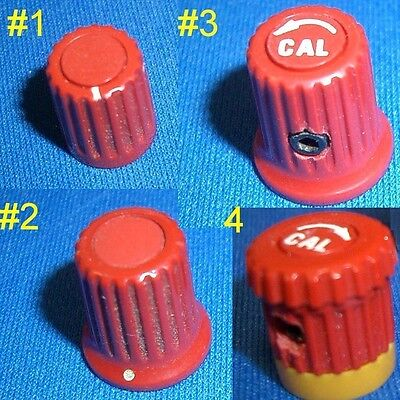 Small Red Tektronix Tek Knobs Assorted Styles Sold In Pairs