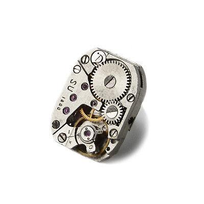 Steampunk Lapel Pin - Genuine Watch Movement - QHG1 ()