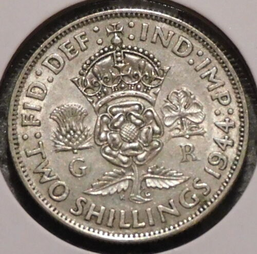 British Silver Florin - 1944 - King George VI - $1 Unlimited Shipping
