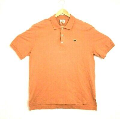 Lacoste Men's Short Sleeve Shirt Size 5 (LARGE) Orange Polo CROC logo