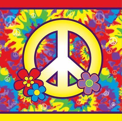 Hippie Decor 60's Decades Retro Woodstock Theme Party Paper Luncheon Napkins - Hippie Theme Party